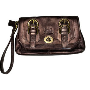 Coach 65th Anniversary Legacy Leather Clutch